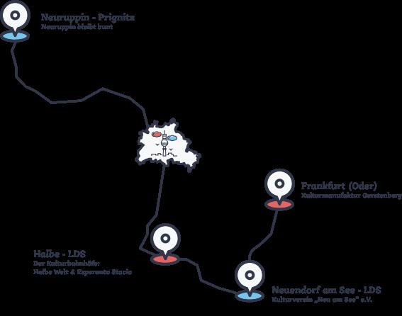 Karte mit Veranstaltungsorten