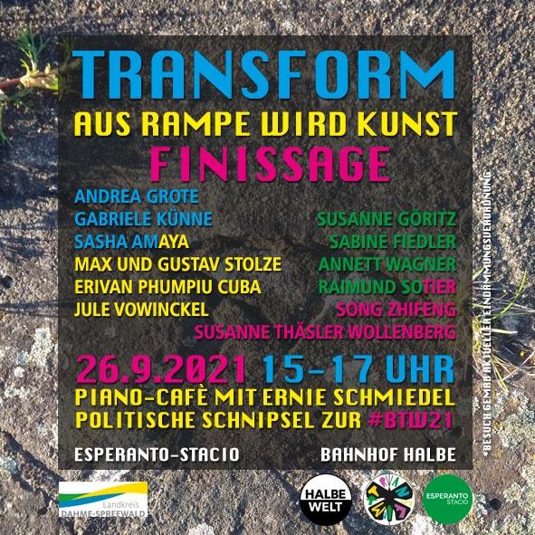 Transform - Finissage am 22. 9. 2021, 15 bis 17 Uhr
